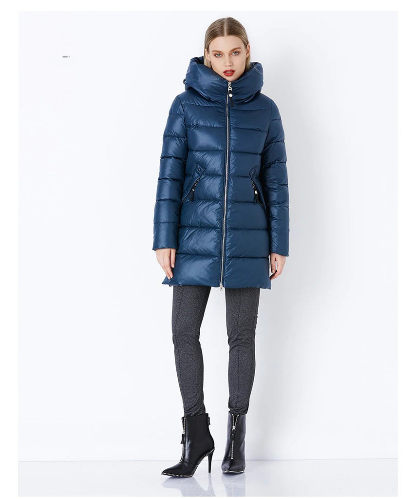 Women's Winter Warm Long Down Coat With Hood