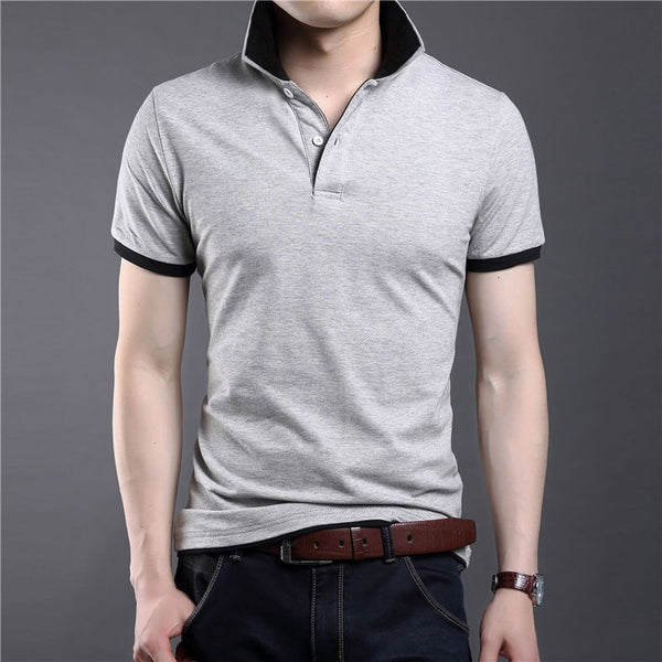 T-Shirt – Men's Casual Turn-Down Collar Cotton T Shirt | Zorket