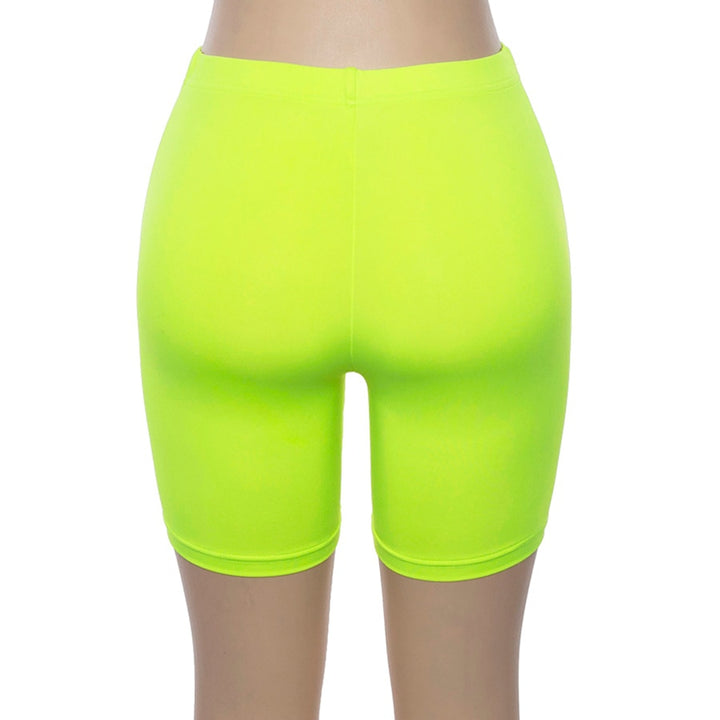 Women's Summer High Waist Elastic Skinny Workout Shorts