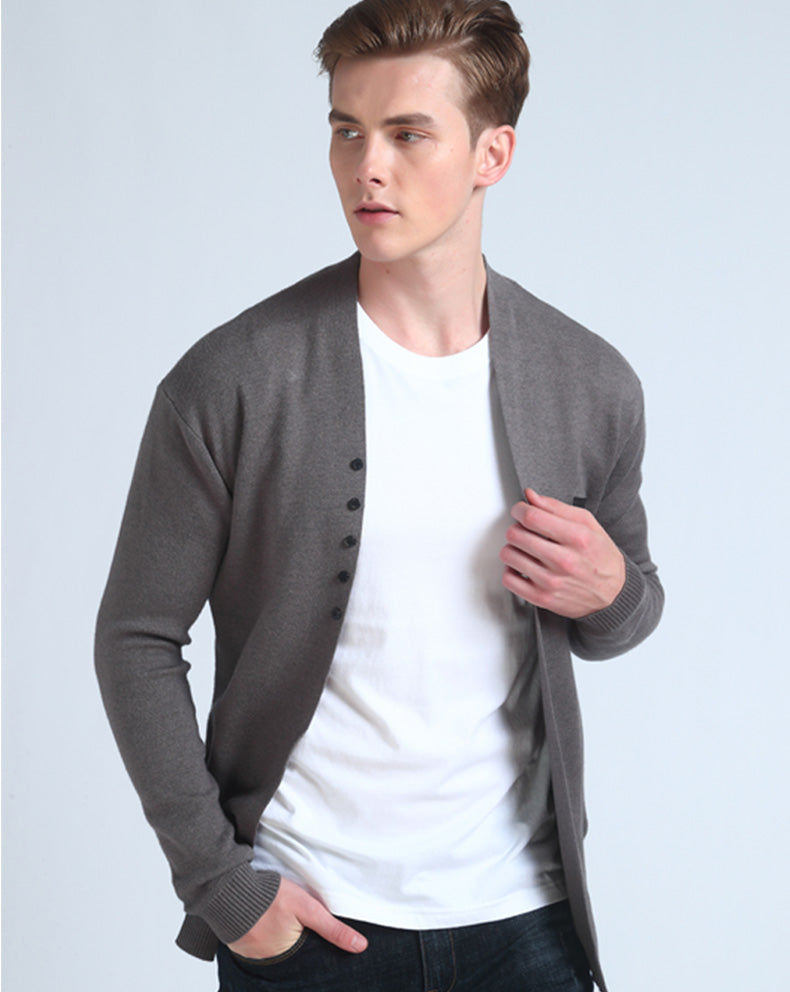 Men's Autumn Casual Cardigan With Decorative Buttons