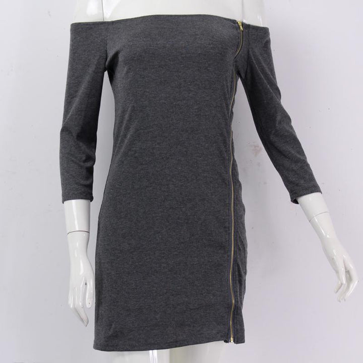 Dress – Fashionable Long Sleeved Sheath Dress | Zorket