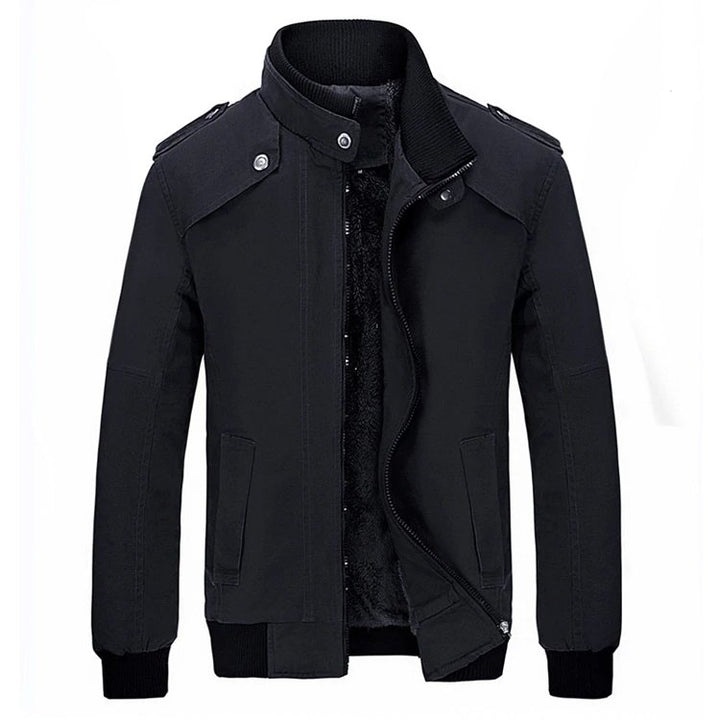 Men's Winter Warm Casual Fleece Jacket With Stand Collar