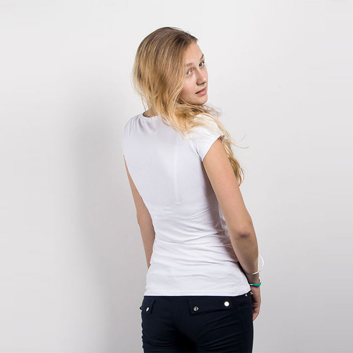 Women's Casual Cotton T-Shirt O-Neck, Short-Sleeved - Zorket