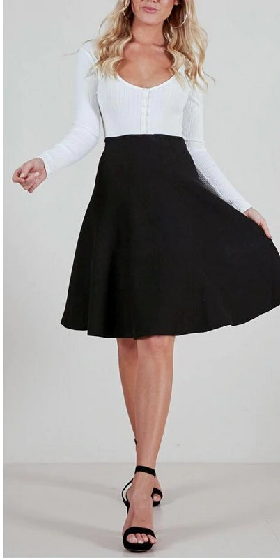 Women's Autumn/Winter Vintage A-Line Knitted Skirt