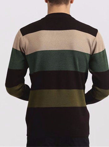 Men's High Quality Casual Autumn Striped Sweater - Zorket