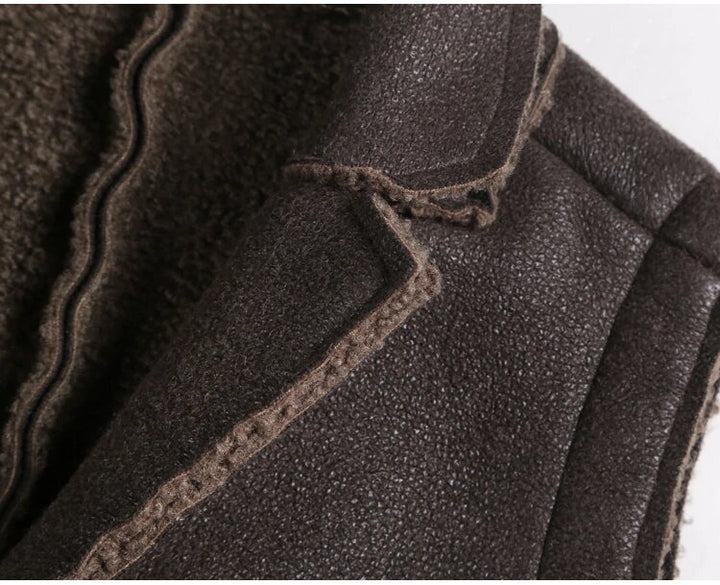 Men's Autumn/Winter Thick Warm Retro Faux Fur Vest