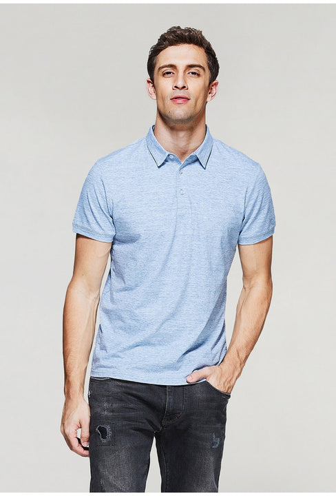 Men's Summer Cotton Short-Sleeved Polo T-Shirt