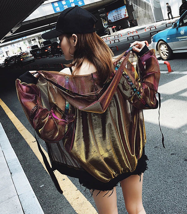 Women's Spring/Summer Sun Protection Loose Hooded Streetwear