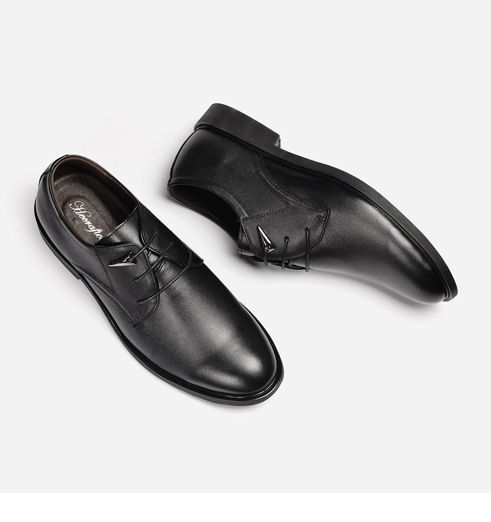 Men's Winter Genuine Cowhide Oxfords Business Bridal Fashion Shoes