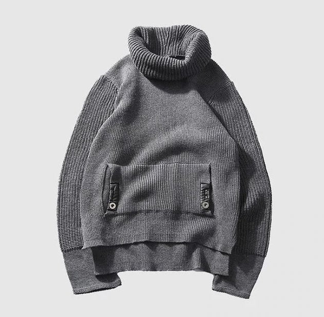 Men's Autumn/Winter Thick Warm Woolen Knitted Loose Pullover