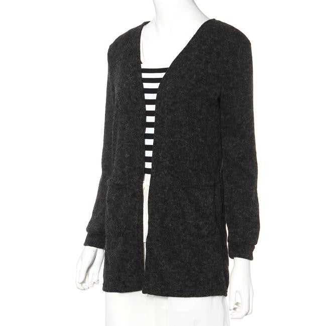 Women's Long Sleeved Knitted Loose Cardigan - Zorket