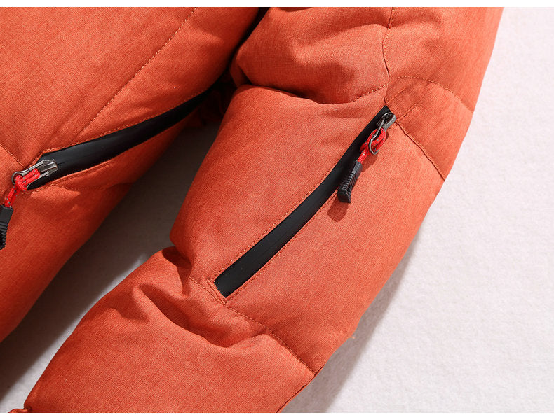 Men's Winter Warm Thick Zipped Hooded Parka