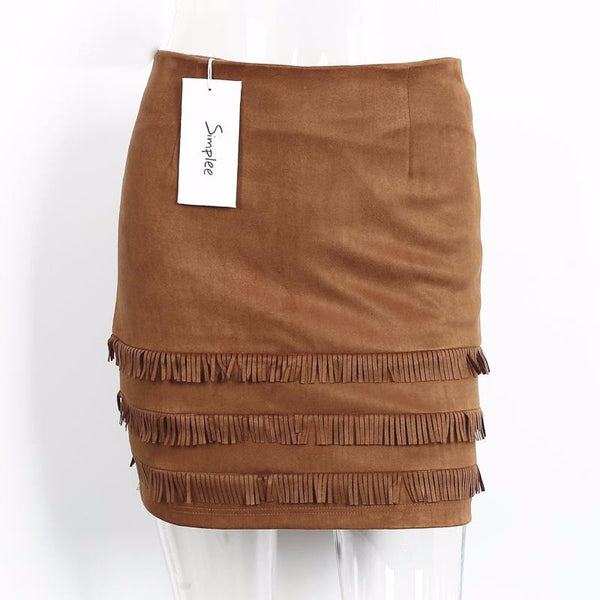 Skirt – Suede Pencil Skirt In Retro Style | Zorket