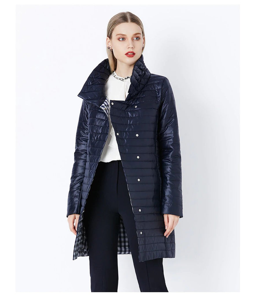Women's Winter Warm Thin Cotton-Padded Long Coat