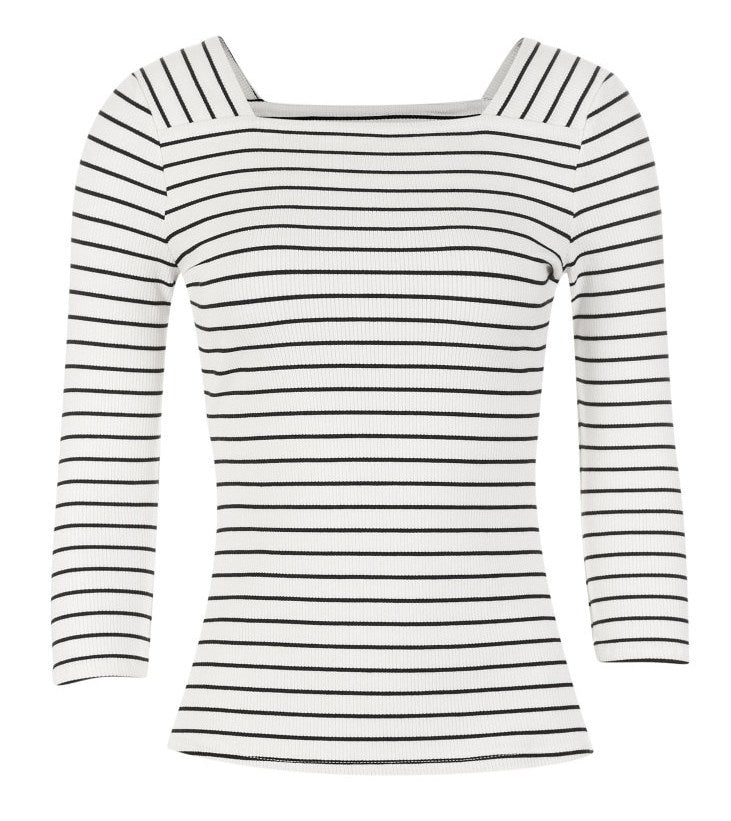 Women's Spring Striped Long-Sleeved T-Shirt
