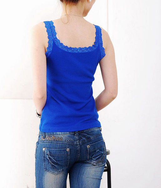 Tank Top – Casual Women's Tank Top With Lace | Zorket