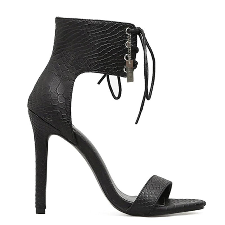 Women's Summer High-Heeled Cross-Strap Ankle-Wrap Sandals