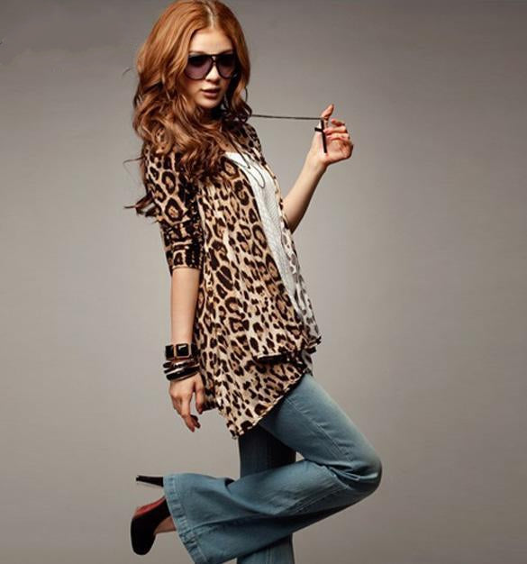 Women's Spring/Summer Leopard Slim Cardigan