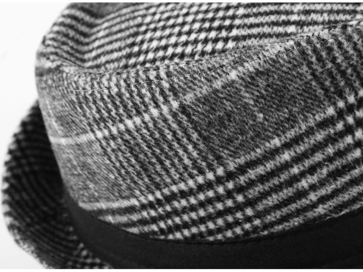 Men's Spring/Autumn European Style Cotton Plaid Hat
