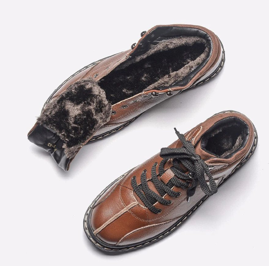 Men's Winter Warm Genuine Cowhide Shoes
