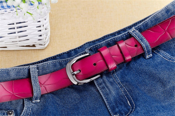 Women's Genuine Leather Pin Buckle High Quality Belt - Zorket