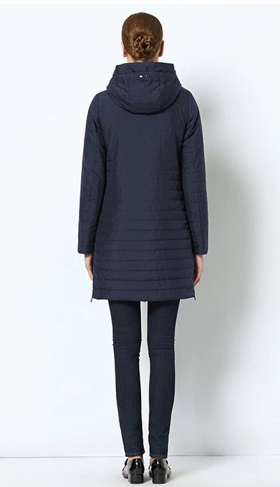 Women's Spring Warm Thin Hooded Long Coat