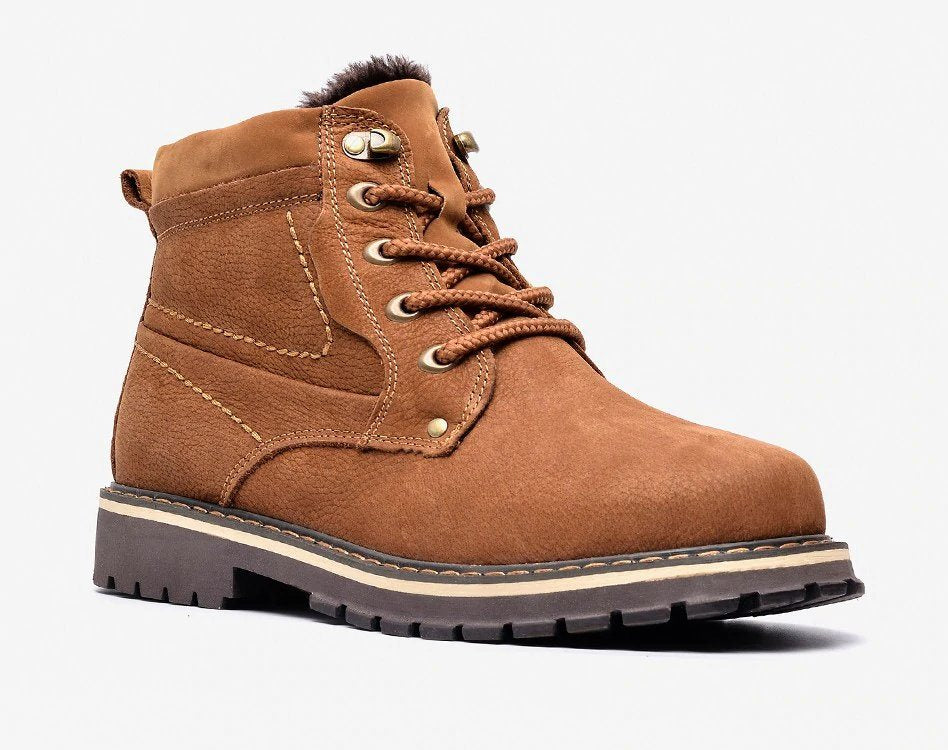 Men's Winter Genuine Leather Plus Size Boots