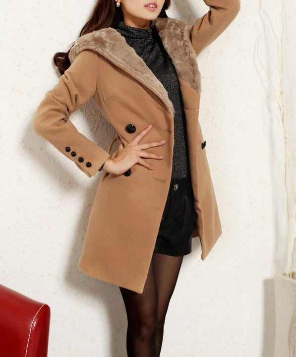 Women's British Style Warm Winter Coat