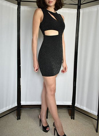 Women's Spring/Summer Round Neck Sleeveless Glitter Dress