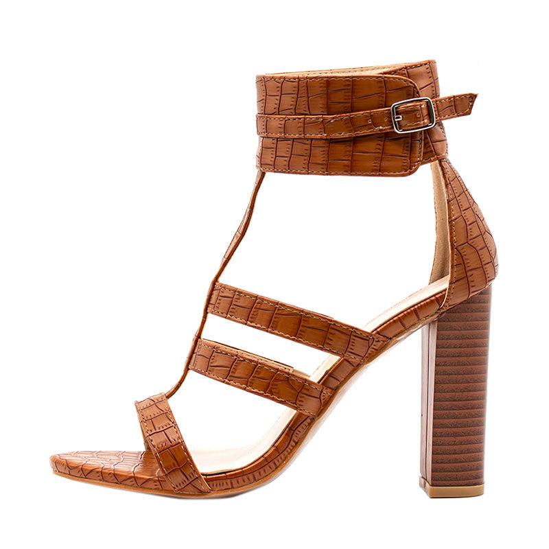 Women's Summer High-Heeled Gladiator Ankle Strap Sandals