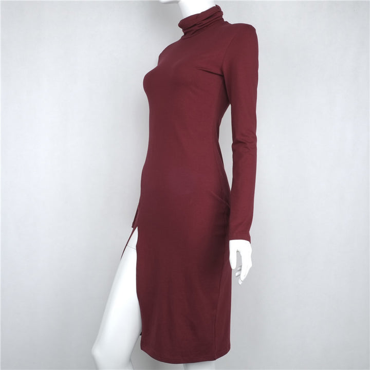Women's Sheath Dress With Slit - Zorket