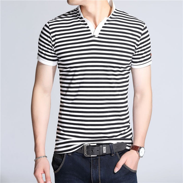 Men's Slim Fit Short Sleeve V-Neck T-Shirt - Zorket