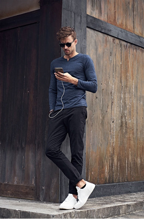 Men's Spring/Autumn Casual Straight Pants