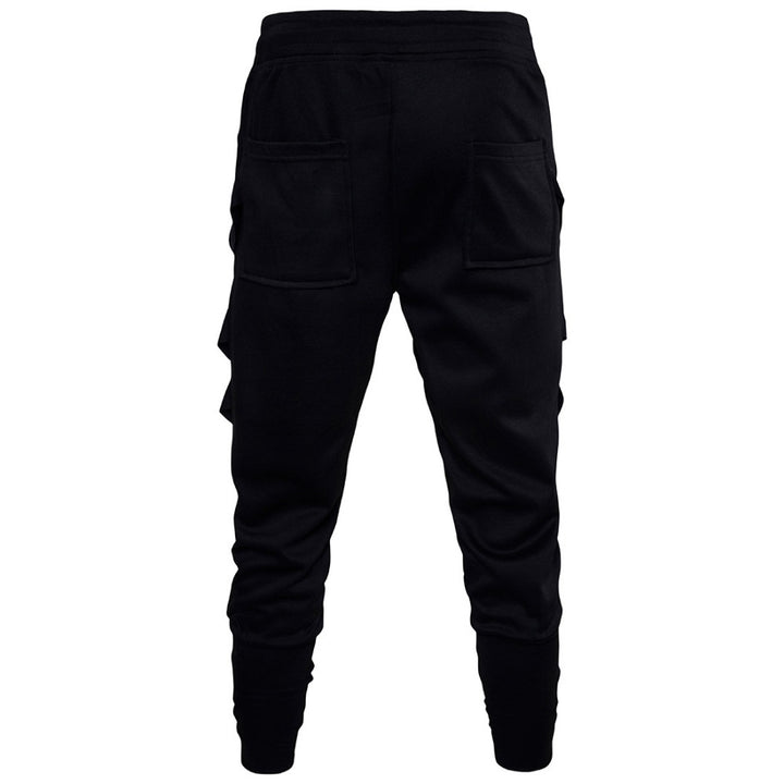Men's Spring/Autumn Casual Cotton Slim Joggers With Lacing