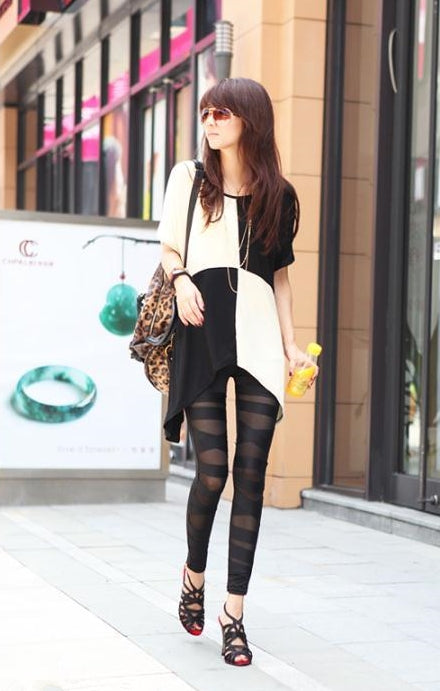 Women's Spring/Autumn Patchwork Stretch Bandage Leggings