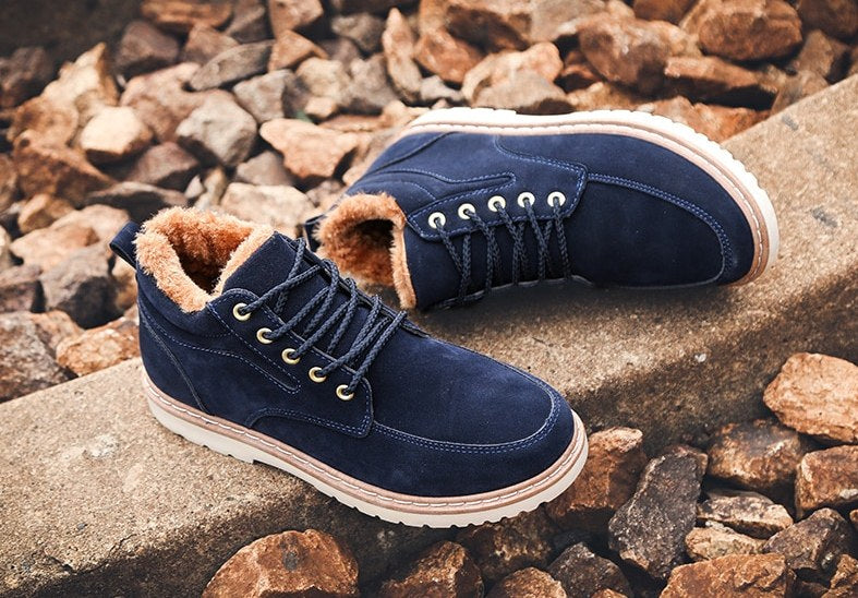 Men's Winter Genuine Leather Warm Shoes