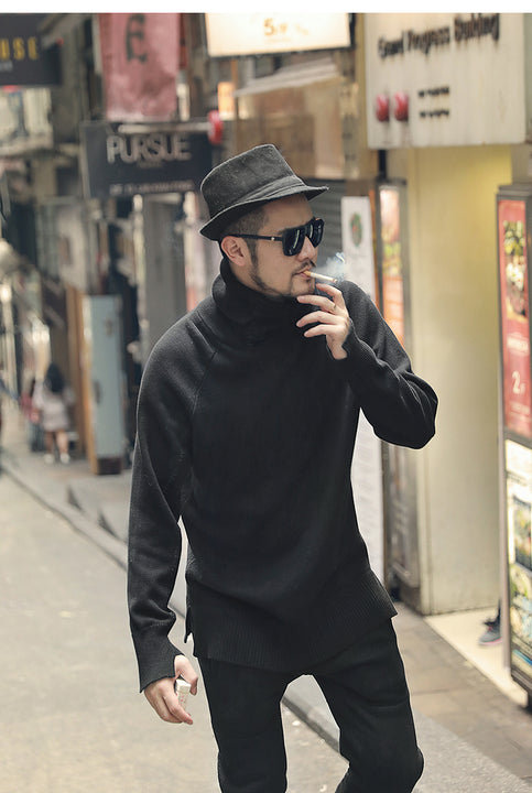Men's Spring Casual Warm Thick Pullover With Turtleneck