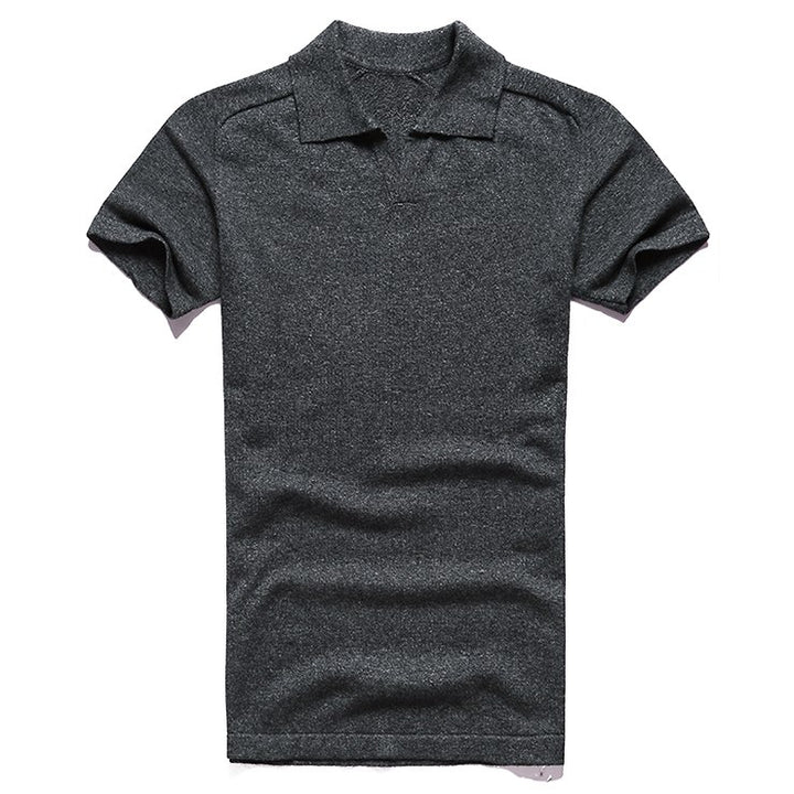 Men's Summer Cotton Short-Sleeved Slim Polo T-Shirt