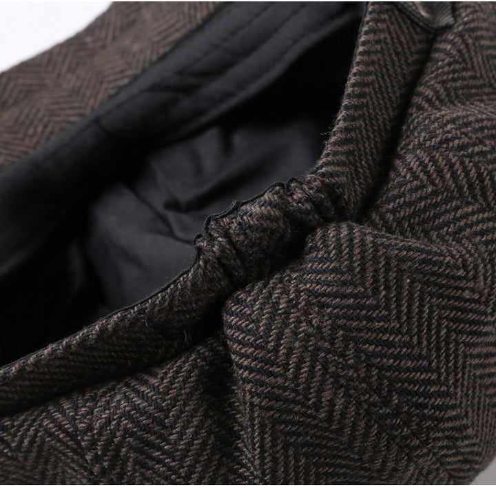 Men's Autumn/Winter European Style Textured Woolen Cap
