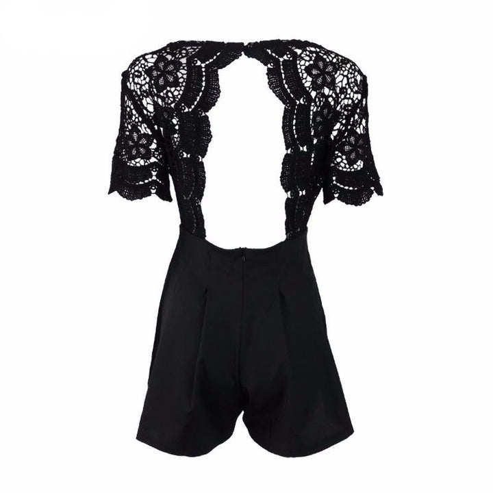 High Waist Backless Romper - Zorket