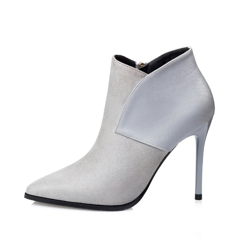 Women's Autumn/Winter High-Heeled Pointed Toe Ankle Boots