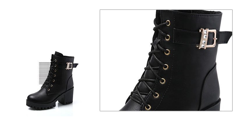 Women's Autumn/Winter High-Heeled Platform Ankle Boots
