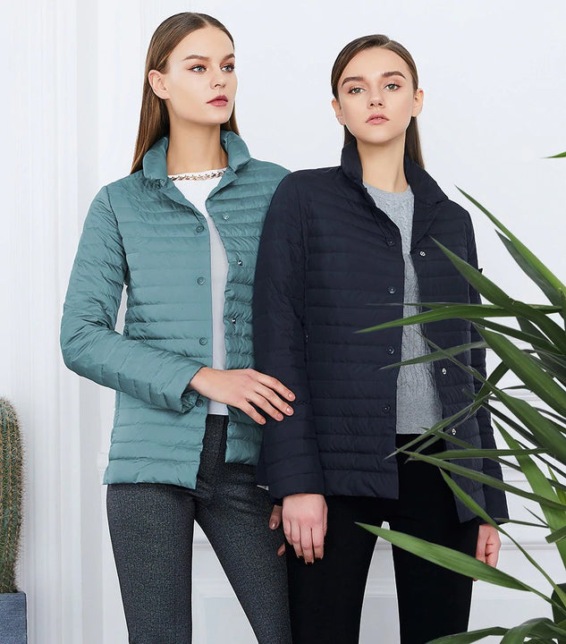 Women's Spring Windproof Quilted Short Jacket