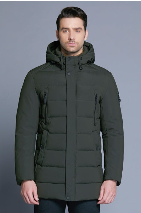 Men's Winter Warm Bio-Down Coat With Detachable Hat