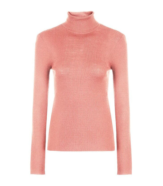 Women's Knitted High Neck Wool Sweater