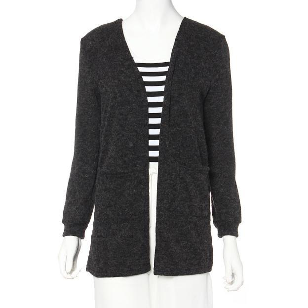 Women's Long Sleeved Knitted Loose Cardigan