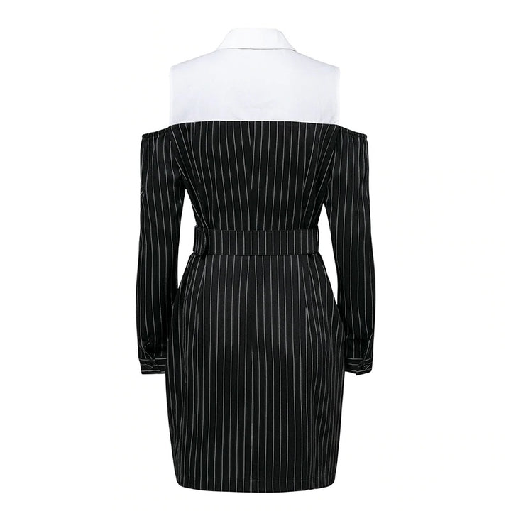 Women's Autumn/Winter Two-Piece With Stripes Dress