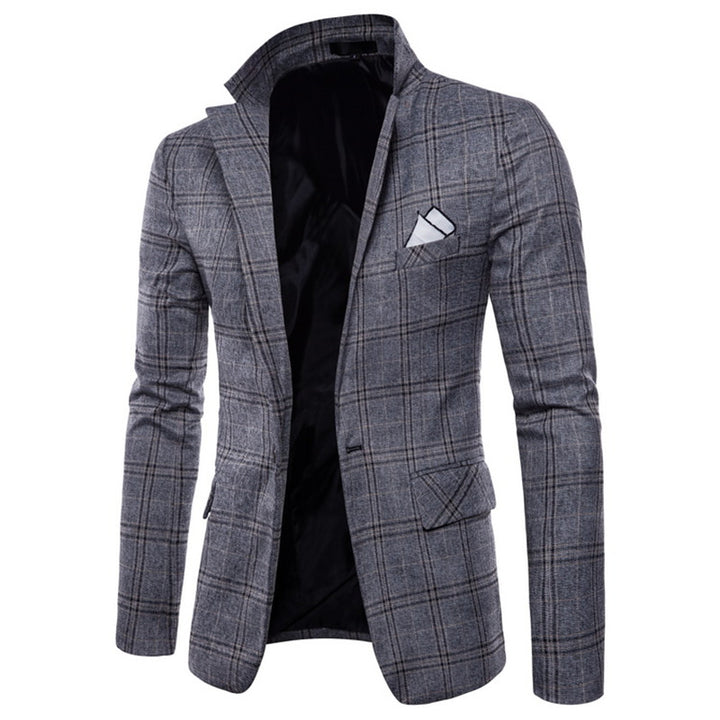 Men's Autumn/Winter Retro Woolen Tweed Slim Blazer