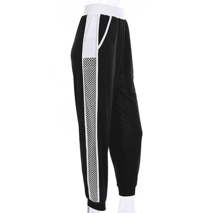Women's Summer High Waist Mesh Splice Joggers