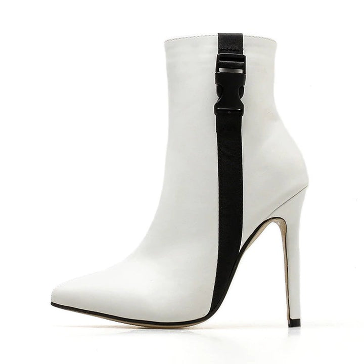 Women's Autumn/Winter PU Leather High-Heeled Ankle Boots